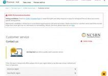 Número de teléfono del servicio de atención al cliente de Pearson Vue Nclex
