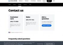 Número de servicio al cliente de Legalzoom