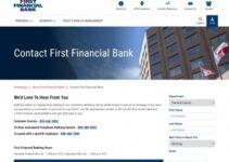 Servicio al cliente de First Financial Bank las 24 horas
