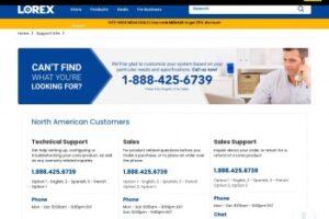 Servicio al cliente de Lorex Technology