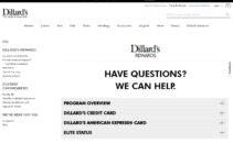Servicio al cliente de tarjetas de crédito Dillard