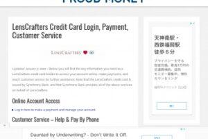 Servicio al cliente de tarjetas de crédito Lenscrafters